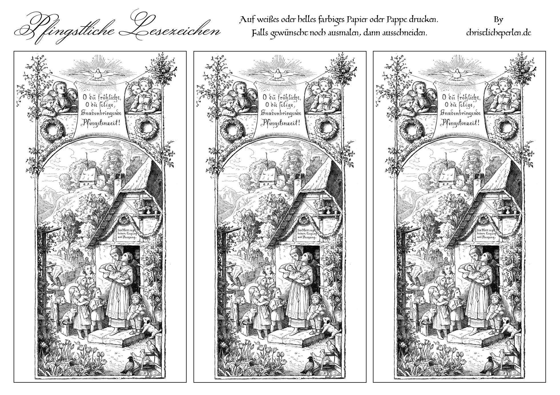 Top Lesezeichen basteln | Christliche Perlen OM17