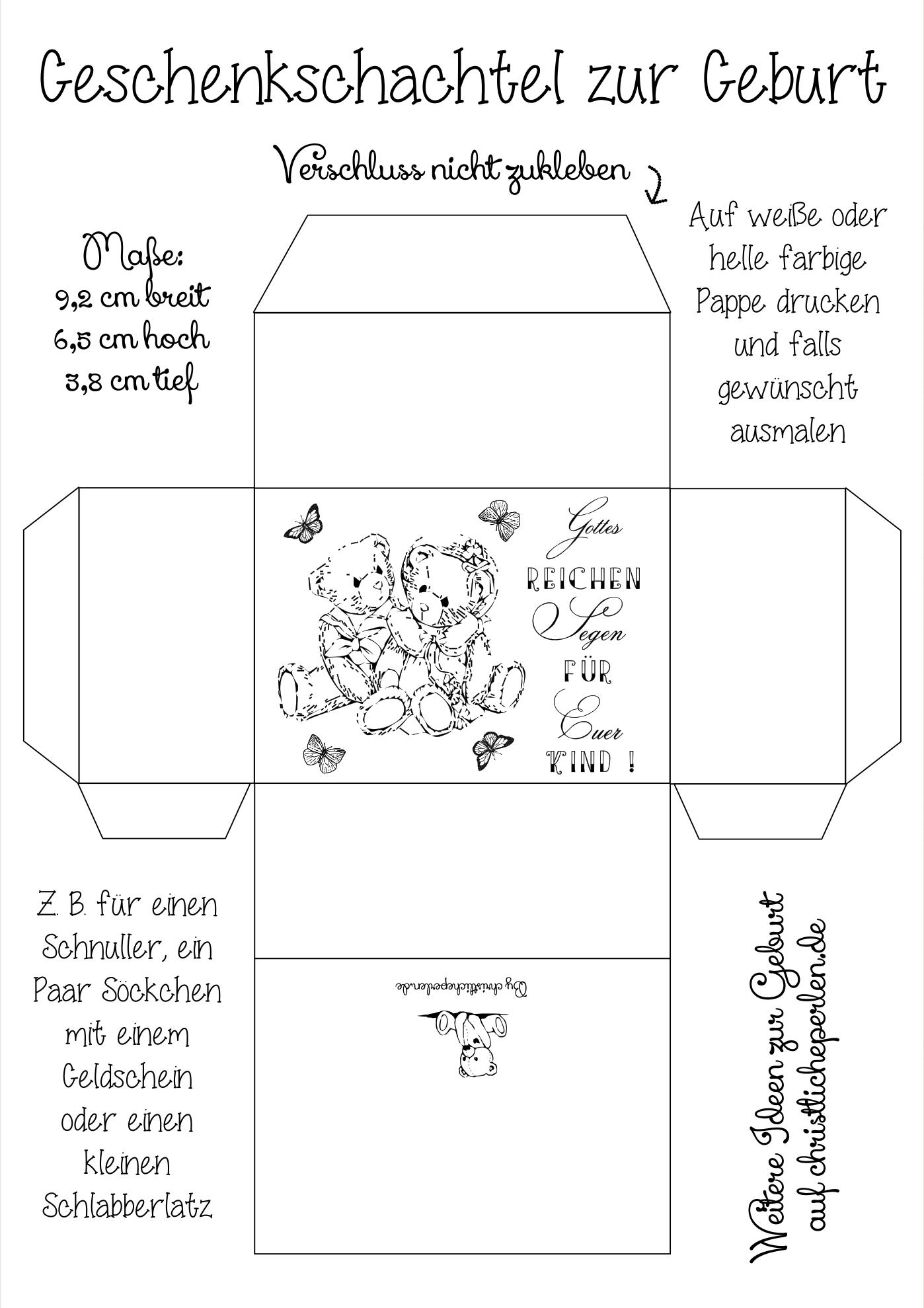 Karte Zur Taufe Geburt Karten Basteln Geburt 6
