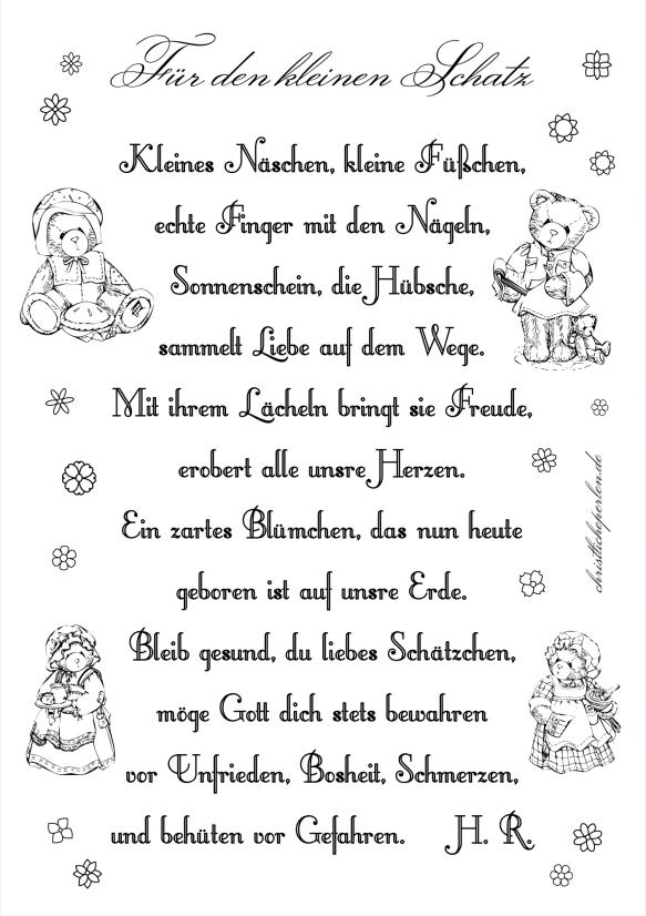 Gedichte Und Bastelanregungen Zur Geburt Oder Zum 1