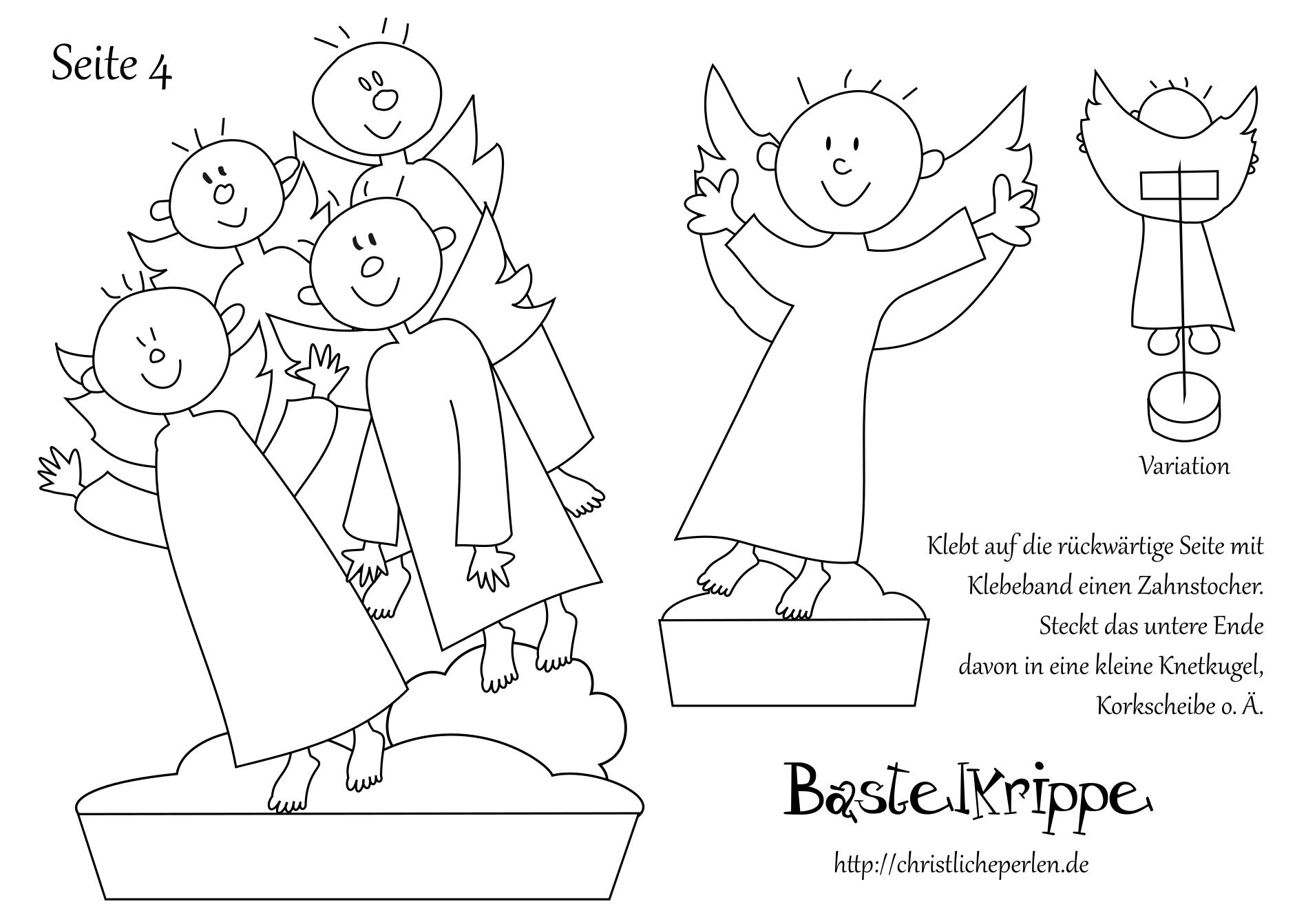 Bastelkrippe Zum Ausdrucken Krippenfiguren 7