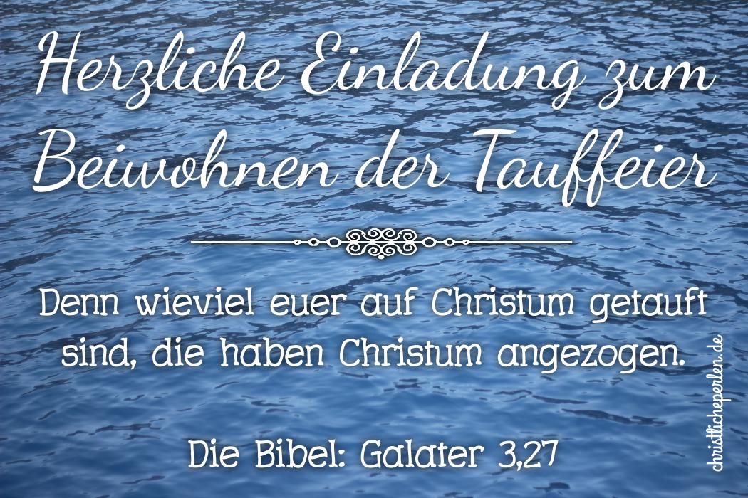 Einladung Taufe