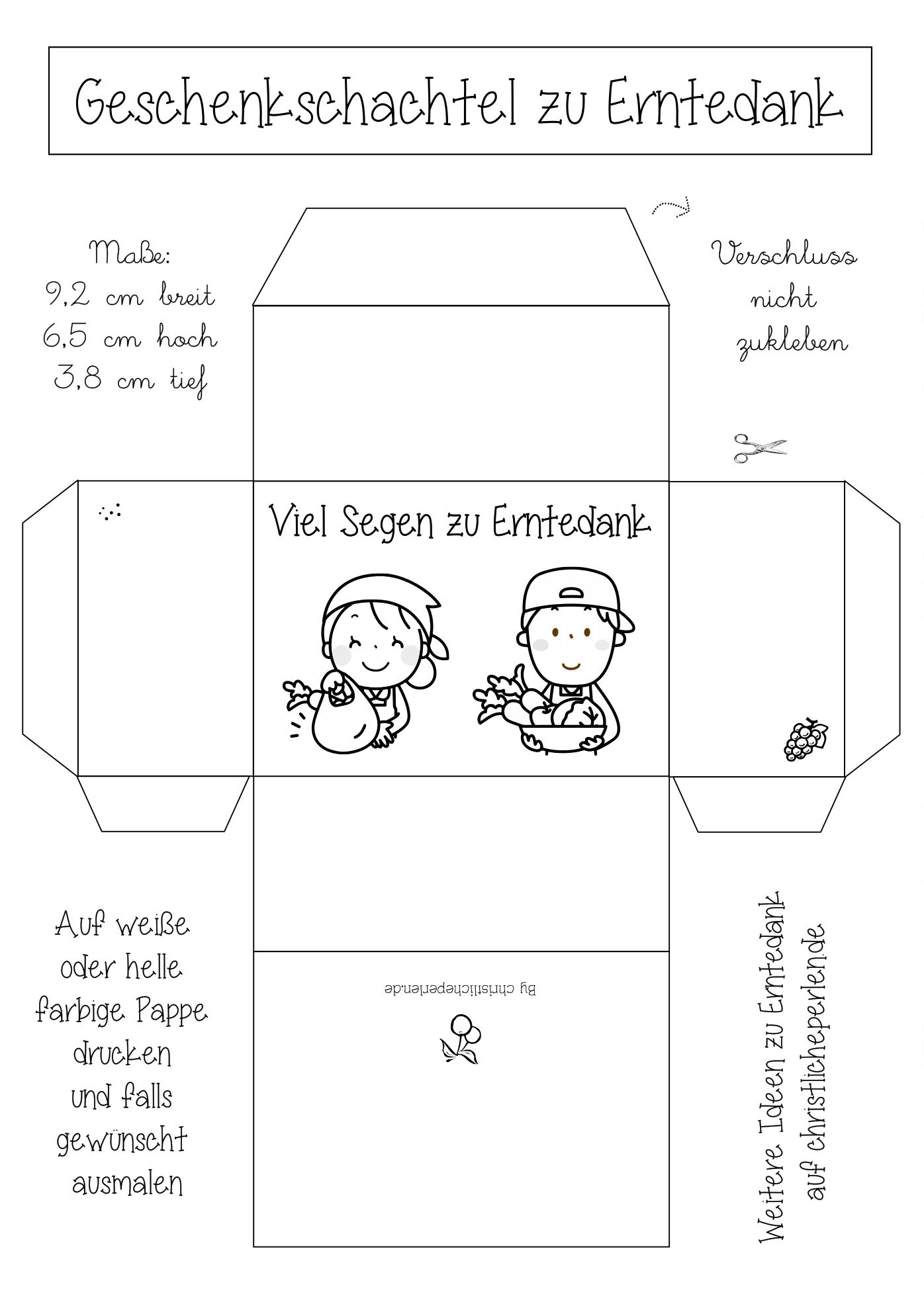 Erntedank Schachtel