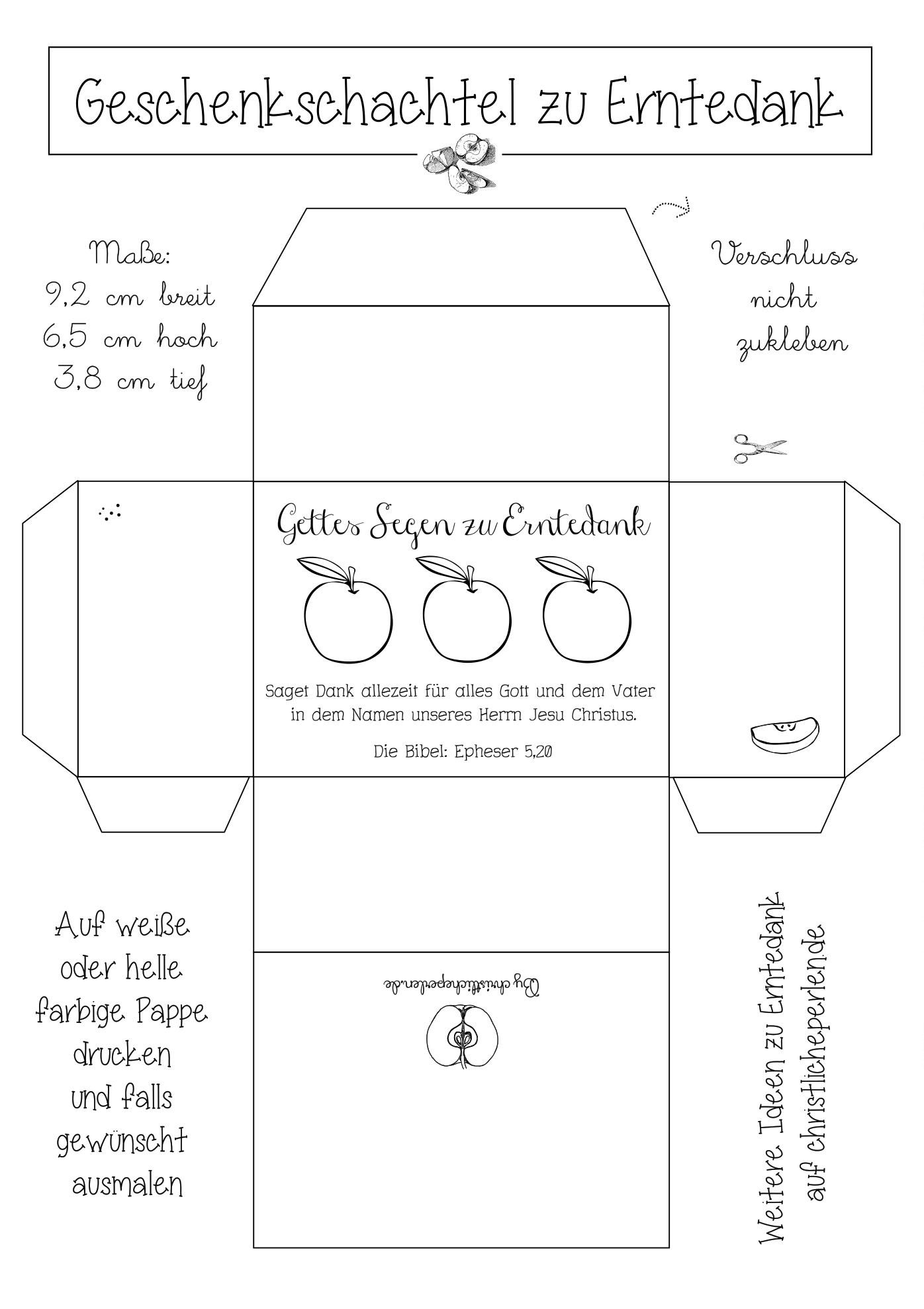 Schachtel Erntedank